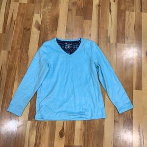 Croft & Barrow Blue Pajama Long Sleeve Top